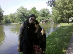 Karen and Rachelle in Stratford