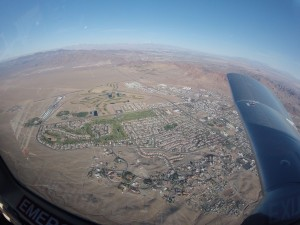 Flying over Boulder City, just southeast of Las Vegas