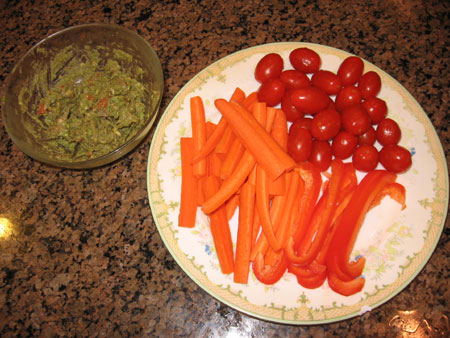 Raw food diet day 10 lunch