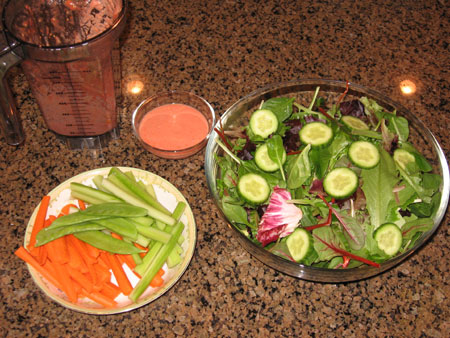 Raw food diet day 11 lunch