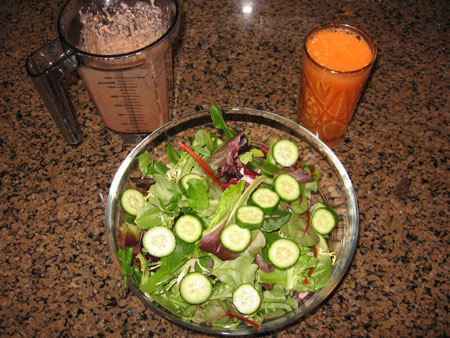 Raw food diet day 22 lunch