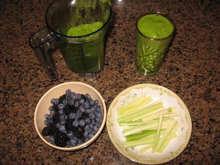 Raw food diet day 25 breakfast