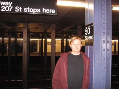 Steve at New York City Subway